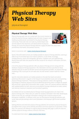 Physical Therapy Web Sites