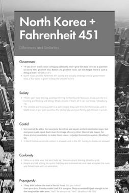 North Korea + Fahrenheit 451