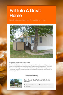 Fall Into A Great Home