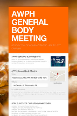 AWPH GENERAL BODY MEETING