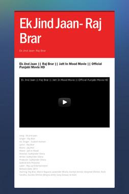 Ek Jind Jaan- Raj Brar