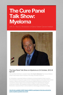 The Cure Panel Talk Show: Myeloma