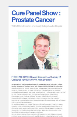 Cure Panel Show : Prostate Cancer