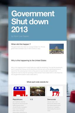 Government Shut down 2013
