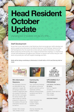 Head Resident October Update