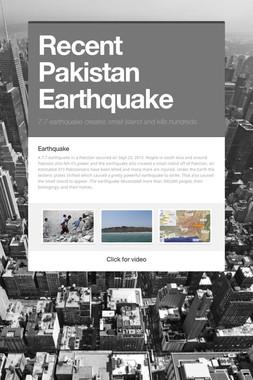 Recent Pakistan Earthquake