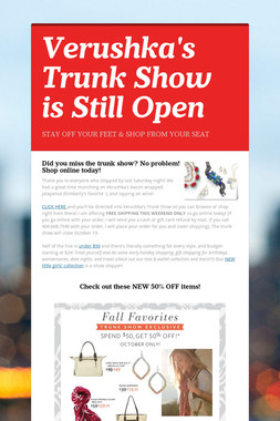 Verushka's Trunk Show is Still Open