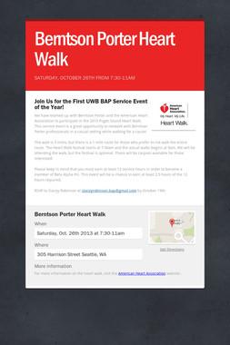 Berntson Porter Heart Walk