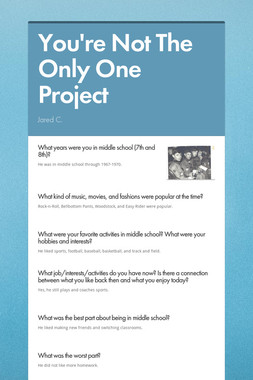 You're Not The Only One Project