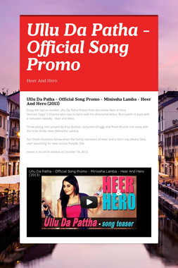 Ullu Da Patha - Official Song Promo
