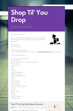 Shop Til' You Drop