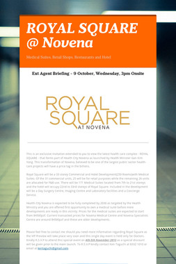 ROYAL SQUARE @ Novena