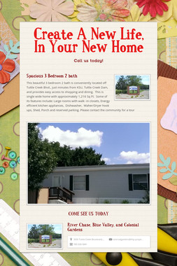 Create A New Life, In Your New Home