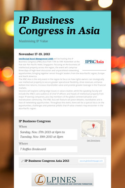 IP Business Congress in Asia