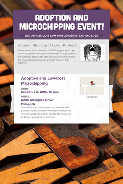 Adoption and Microchipping Event!