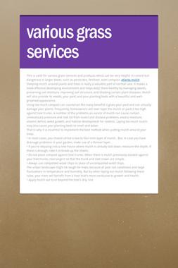 various grass services