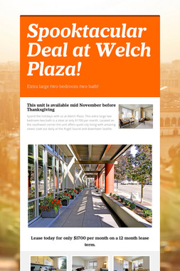 Spooktacular Deal at Welch Plaza!