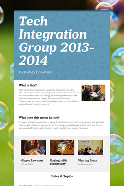 Tech Integration Group 2013-2014