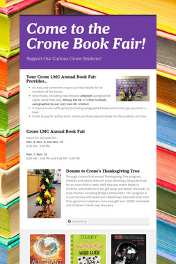Come to the Crone Book Fair!