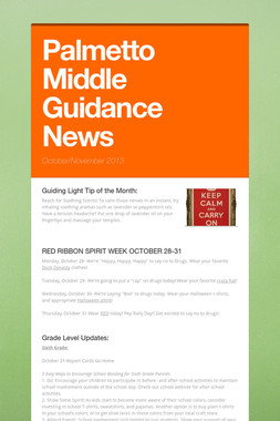 Palmetto Middle Guidance News