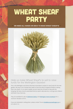 Wheat Sheaf Party