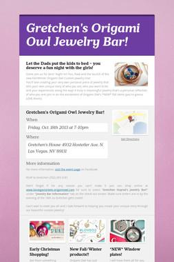 Gretchen's Origami Owl Jewelry Bar!