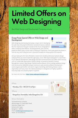 Limited Offers on Web Designing