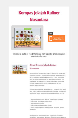 Kompas Jelajah Kuliner Nusantara