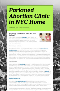 Parkmed Abortion Clinic in NYC Home