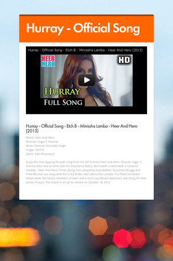 Hurray - Official Song