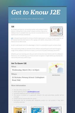 Get to Know J2E