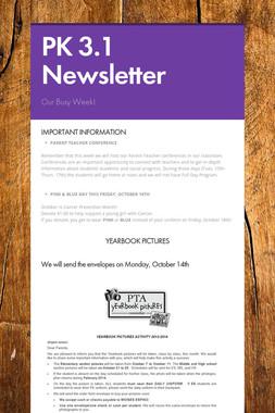 PK 3.1 Newsletter