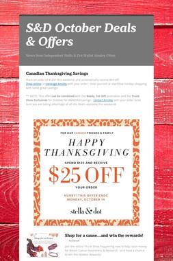 S&D October Deals & Offers