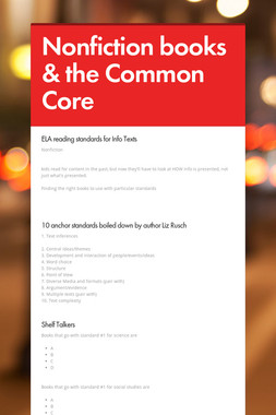 Nonfiction books & the Common Core
