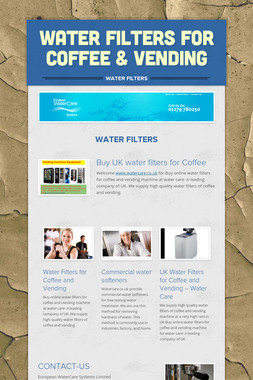 Water Filters for Coffee & Vending