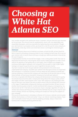 Choosing a White Hat Atlanta SEO