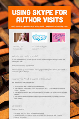using Skype for author visits