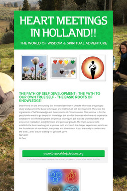 HEART MEETINGS IN HOLLAND!!