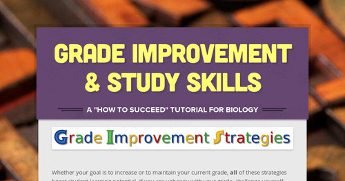 Grade Improvement & Study Skills