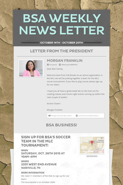 BSA Weekly News Letter