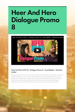 Heer And Hero Dialogue Promo 8