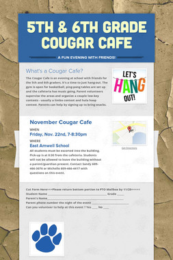 5th & 6th Grade Cougar Cafe