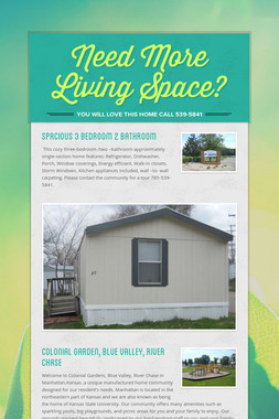 Need More Living Space?