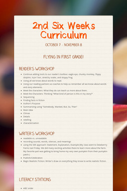 2nd Six Weeks Curriculum