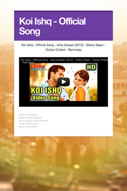 Koi Ishq - Official Song