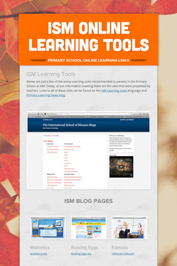 ISM Online Learning Tools