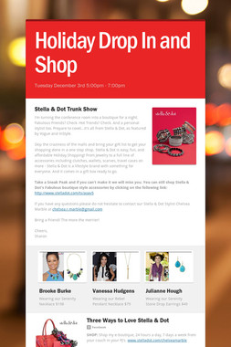 Holiday Drop In and Shop