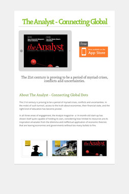 The Analyst - Connecting Global