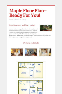 Maple Floor Plan-- Ready For You!