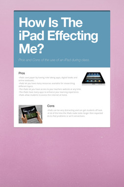 How Is The iPad Effecting Me?